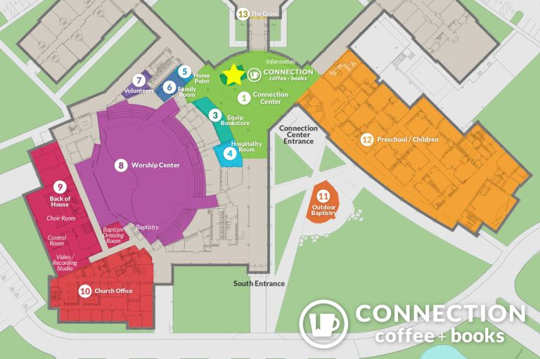 Campus Map - Find Connection Coffee and Books at First Baptist Covington